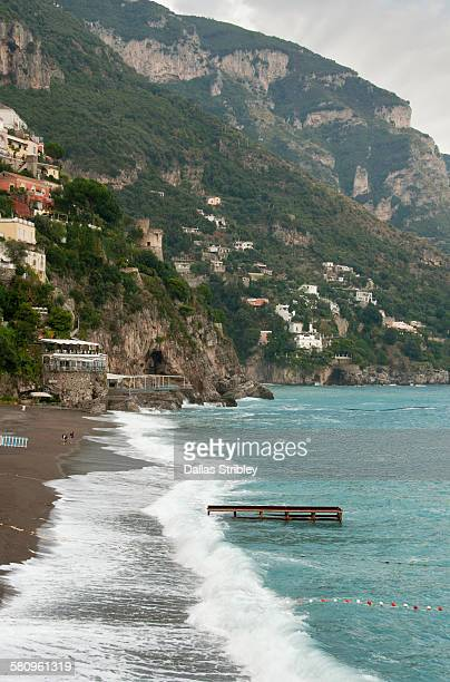 Stormy day on the Spiaggia Grande in Positano