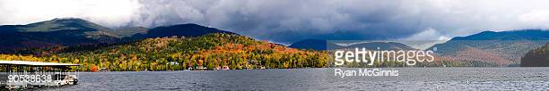 Stormy Fall Lake in the Mountains