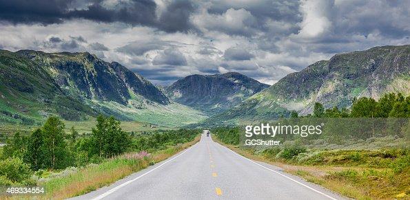 Stormy Norwegian Highway