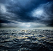 Stormy ocean water