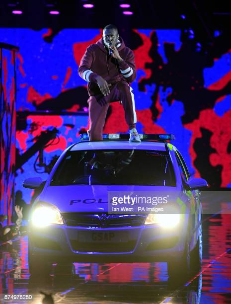 Stormy performs on stage during the MTV Europe Music Awards 2017