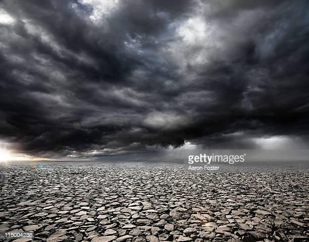 Stormy Rocky Background