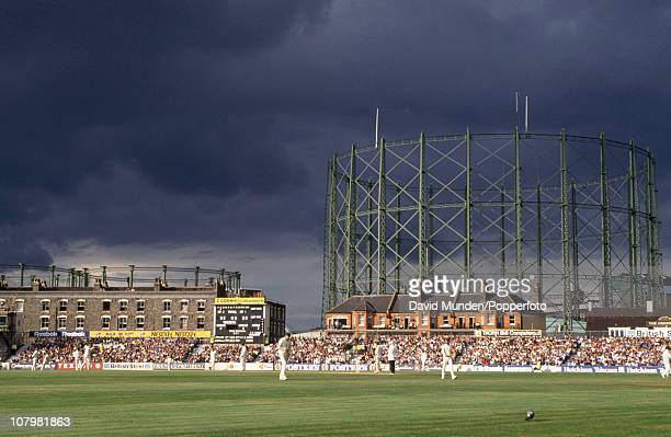 Stormy skies above the cricket ground during the 6th Test match between England and Australia at the Kennington Oval in London 19th August 1993...