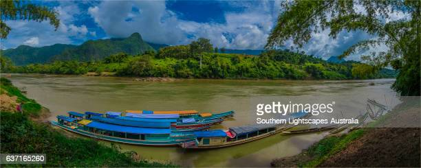 Stormy skies on the Nam Ou river, Nong Khiaow, province of Luang Prabang, Laos