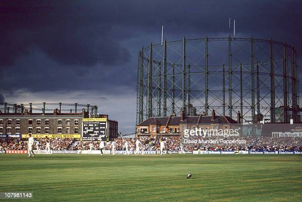Stormy skies over the cricket ground during the 6th Test match between England and Australia at the Kennington Oval in London 19th August 1993...