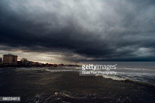 Stormy sky over Rimini, Italy