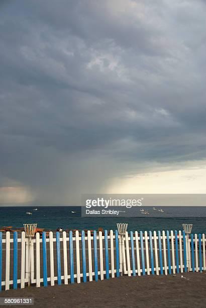 Stormy sky over Spiaggia Grande in Positano
