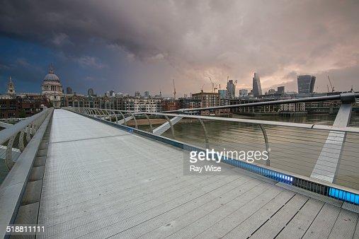 Stormy sunrise over London