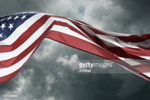 Stormy Weather American Flag