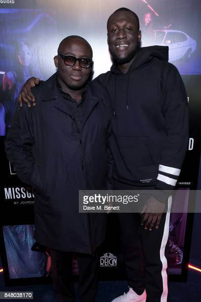 Stormzy and Edward Enninful attend LON DUNN x Missguided Official Launch Party Hosted by Jourdan Dunn at The London Reign on September 16 2017 in...