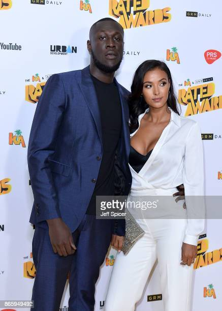 Stormzy and Maya Jama attend The Rated Awards at The Roundhouse on October 24 2017 in London England