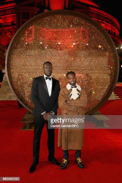 Stormzy and Tinie Tempah attend the Swarovski Prolouge at The Fashion Awards 2017 in partnership with Swarovski at Royal Albert Hall on December 4...