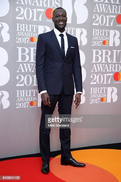 Stormzy attends The BRIT Awards 2017 at The O2 Arena on February 22 2017 in London England
