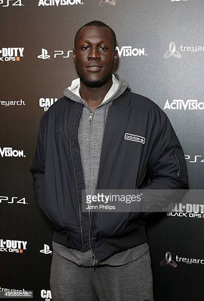 Stormzy attends the Call of Duty Black Ops III launch at One Mayfair on November 5 2015 in London England