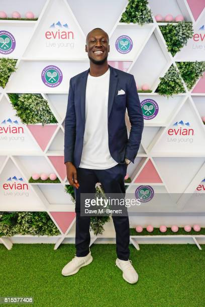 Stormzy attends the evian Live Young suite during Wimbledon 2017 on July 16 2017 in London England