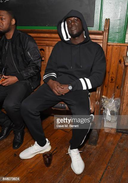 Stormzy celebrate Burberrys September collection and the Dazed Burberry cover shot by Angelo Penetta during London Fashion Week on September 16 2017...