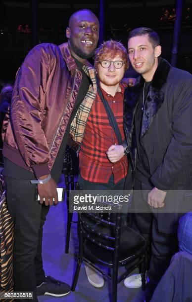 Stormzy Ed Sheeran and Example attend The Q Awards 2017 in association with Absolute Radio at The Roundhouse on October 18 2017 in London England