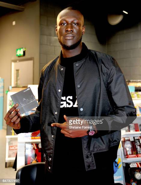 Stormzy meets fans and signs copies of his new album 'Gang Signs And Prayer' at HMV Liverpool One on March 2 2017 in Liverpool United Kingdom