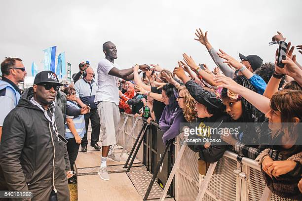 Stormzy perfoms on Day 2 of Wildlife festival on June 12 2016 in Brighton England