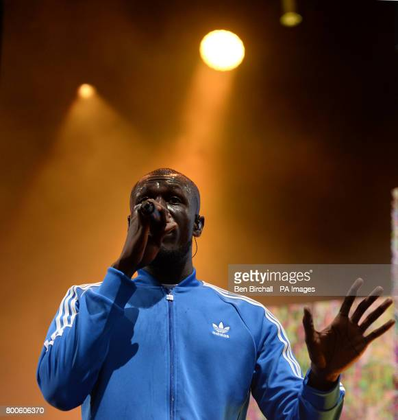 Stormzy performing on The Other Stage at the Glastonbury Festival at Worthy Farm in Somerset PRESS ASSOCIATION Photo Picture date Saturday June 24...