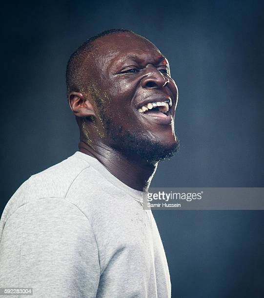 Stormzy performs at V Festival at Hylands Park on August 20 2016 in Chelmsford England