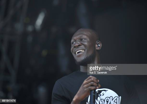 Stormzy performs during 2017 Governors Ball Music Festival Day 2 at Randall's Island on June 3 2017 in New York City