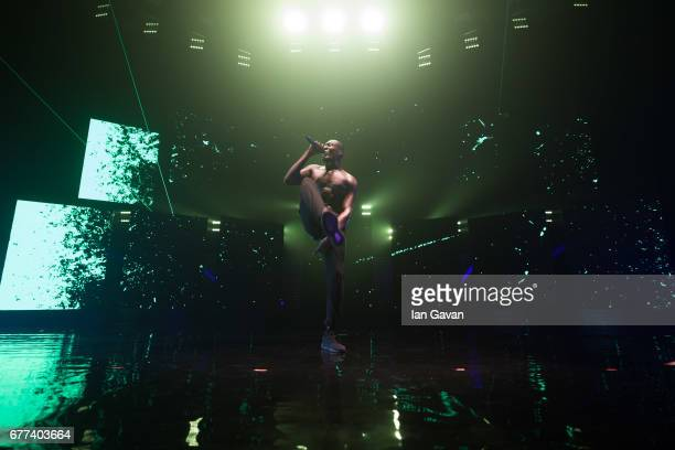 Stormzy performs live on stage at Brixton Academy on May 2 2017 in London England