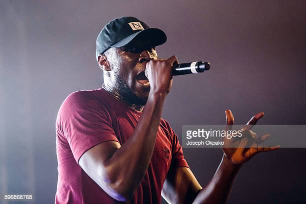 Stormzy performs on stage on Day 2 at Reading Festival 2016 on August 27 2016 in Reading England