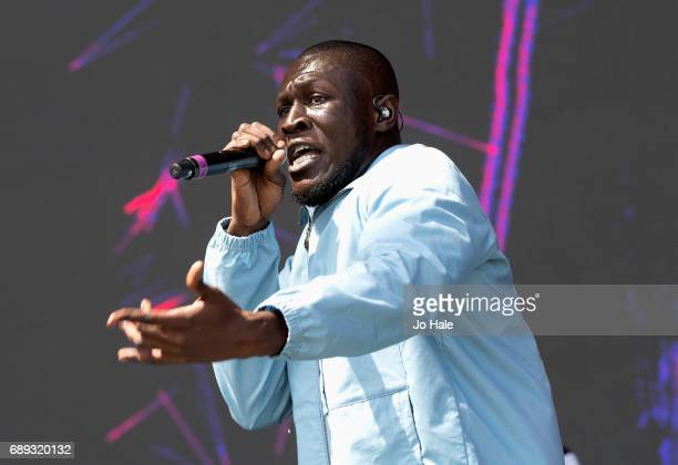 Stormzy performs on stage on Day 2 of BBC Radio 1's Big Weekend 2017 at Burton Constable Hall on May 28 2017 in Hull United Kingdom