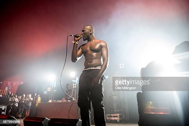 Stormzy performs onstage during day 3 of Bestival 2015 at Robin Hill Country Park on September 12 2015 in Newport Isle of Wight