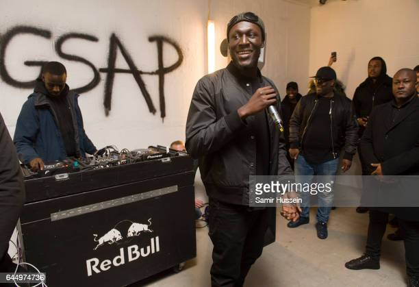 Stormzy performs pop up gig in central London on GSAP album release day on February 24 2017 in London England