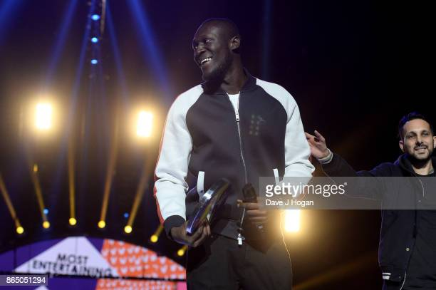 Stormzy speaks on stage at the BBC Radio 1 Teen Awards 2017 at Wembley Arena on October 22 2017 in London England