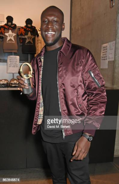 Stormzy winner of the Q Best Solo Artist attends The Q Awards 2017 in association with Absolute Radio at The Roundhouse on October 18 2017 in London...