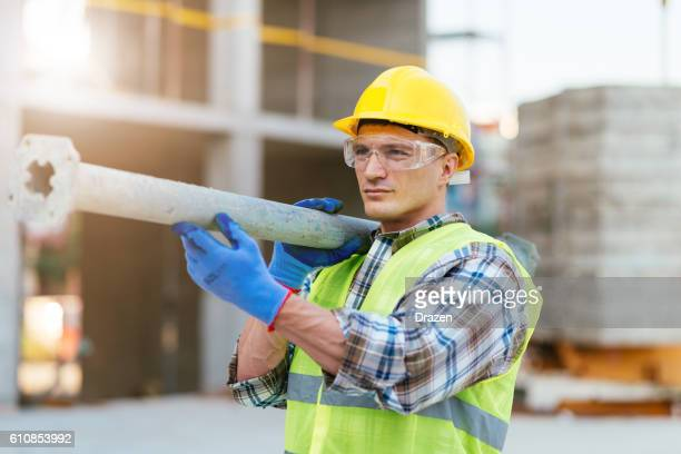 Storng construction worker
