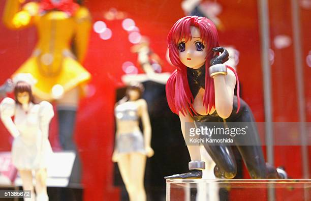 Story Image Figure Dolls on display at the Yamato Co Ltd booth is pictured during the All Japan Plamodel Radicon Show 2004 at Tokyo Big Sight on...
