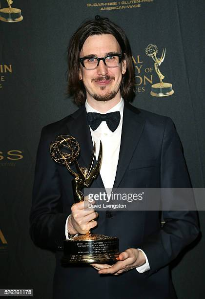 Storyboard artist Benjamin Sanders poses in the press room at the 43rd Annual Daytime Creative Arts Emmy Awards at Westin Bonaventure Hotel on April...