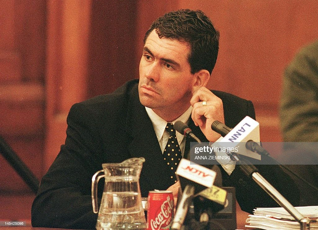 Cronje the sullied hero who died young by Kuldip Lal Photo taken on June 21 2000 shows former South African cricket captain Hansie Cronje during...