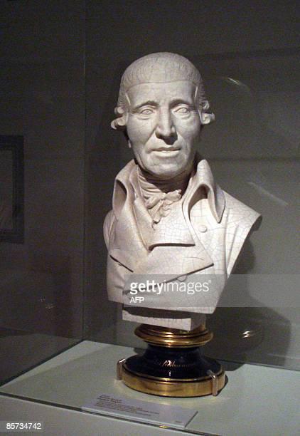 EntertainmentAustriamusicfestivalHaydn A porcelain bust of Josef Haydn by Anton Grassi is displayed in the Maison Haydn in Eisenstadt on March 30...