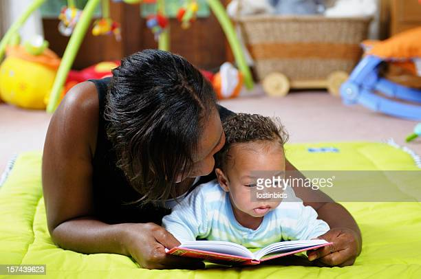 Storytime on the Playmat with Mother and Baby