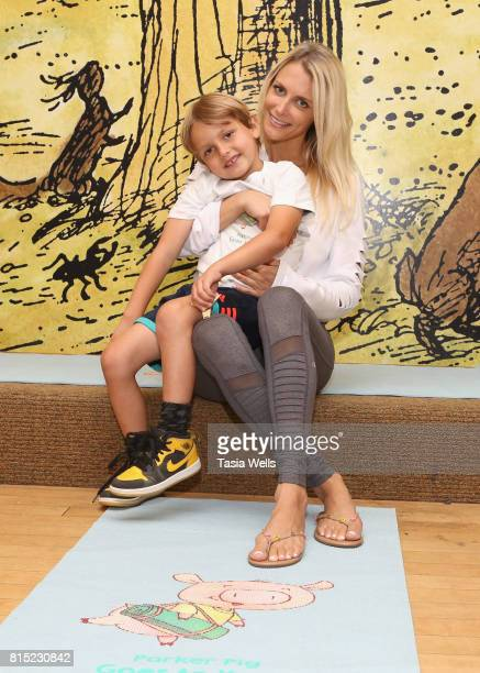 Storytime with Stacey Alysson for her new kids yoga book 'Parker Pig Goes To Yoga' at Barnes Noble at The Grove on July 15 2017 in Los Angeles...