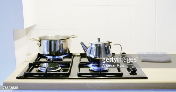 Stove with tea kettle