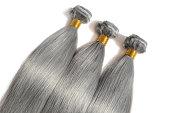 straight ash blonde human hair weave bundles