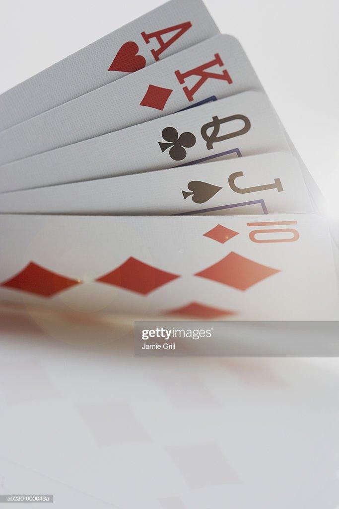 Straight Poker Hand : Stock Photo