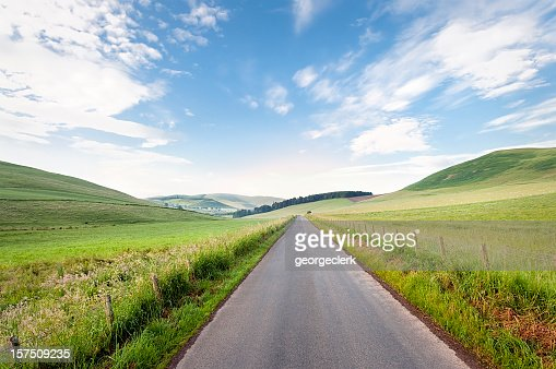 Straight Scottish Country Road