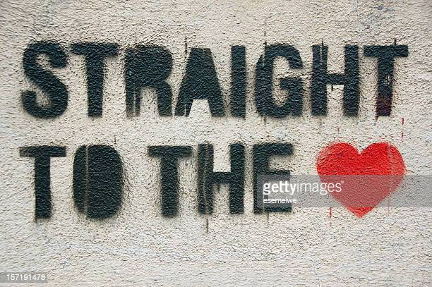 Straight to the heart graffiti