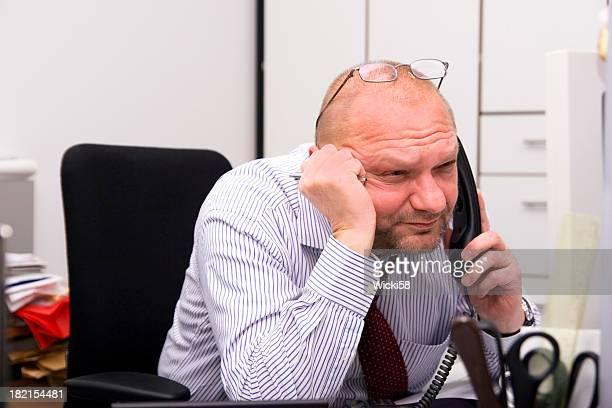 Strained Flashing Businessman