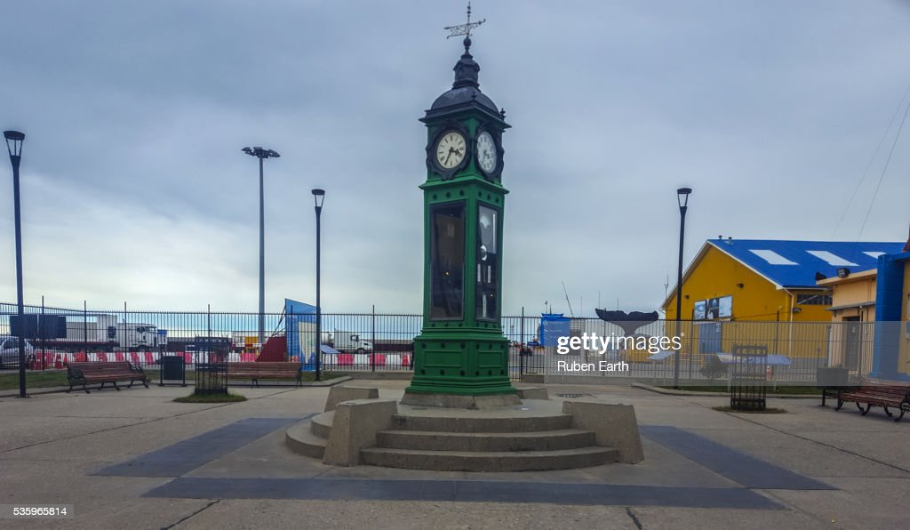 Strait of Magellan clock : Stock Photo