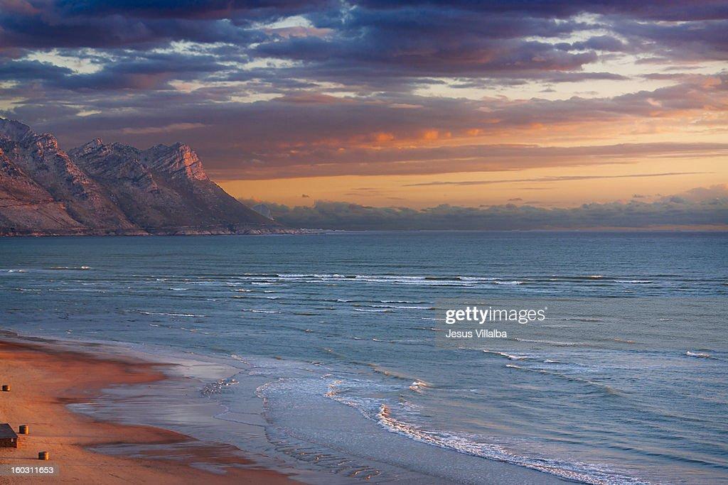 Strand Beach at Sunset : Stock Photo