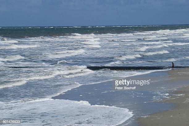 Strand Ostfriesische NordseeInsel Norderney Niedersachsen Deutschland Europa Wellen Reise BB DIG PNr 1553/2007