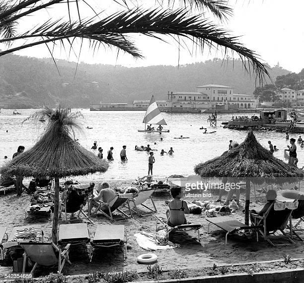 Strandleben in Puerto de Soller 1973